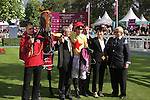 October 02, 2016, Chantilly, FRANCE -  Connection of National Defense after winning the Qatar Prix Jean-Luc Lagardere (Grand Criterium) (Gr. I) at  Chantilly Race Course  [Copyright (c) Sandra Scherning/Eclipse Sportswire)