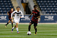 Chester, PA - Friday December 08, 2017: Bryce Marion The Stanford Cardinal defeated the Akron Zips 2-0 during an NCAA Men's College Cup semifinal match at Talen Energy Stadium.