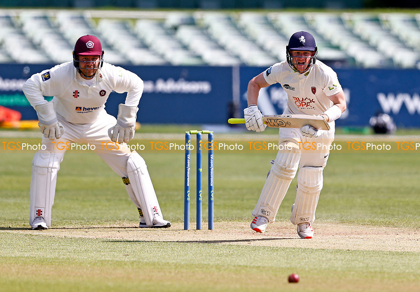 Jordan Cox bats for Kent during Kent CCC vs Northamptonshire CCC, LV Insurance County Championship Group 3 Cricket at The Spitfire Ground on 5th June 2021