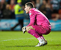 Dundee keeper Kyle Letheren at the end of the game.