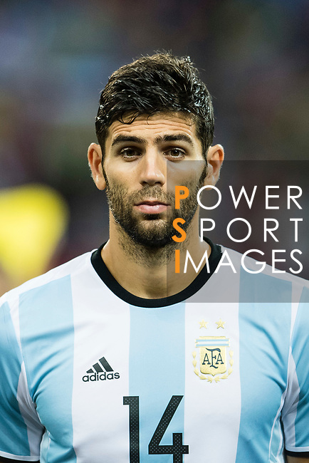 Federico Fazio of Argentina during the International Test match between Argentina and Singapore at National Stadium on June 13, 2017 in Singapore. Photo by Marcio Rodrigo Machado / Power Sport Images
