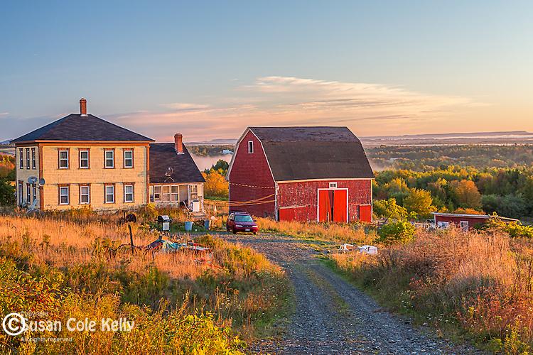 Autumn sunrise in Littleton, Maine, USA