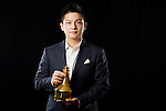 Fan Zhendong of China poses backstage with his Table Tennis Star Point trophy during the ITTF Star Awards on 8th December 2016, in Doha, Qatar. Photo by Victor Fraile / Power Sport Images