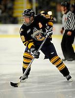 30 December 2007: Quinnipiac University Bobcats' forward Jean-Marc Beaudoin, a Sophomore from St. Paul, Alberta, in action against the University of Vermont Catamounts at Gutterson Fieldhouse in Burlington, Vermont. The Bobcats defeated the Catamounts 4-1 to win the Sheraton/TD Banknorth Catamount Cup Tournament...Mandatory Photo Credit: Ed Wolfstein Photo