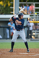 Austin Riley (13) of the Danville Braves at bat against the Burlington Royals at Burlington Athletic Park on August 13, 2015 in Burlington, North Carolina.  The Braves defeated the Royals 6-3. (Brian Westerholt/Four Seam Images)