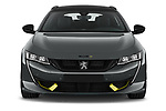 Car photography straight front view of a 2021 Peugeot 508-SW PSE-PHEV 5 Door Wagon Front View