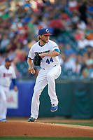 Buffalo Bisons starting pitcher Chris Rowley (44) delivers a pitch during a game against the Syracuse Chiefs on July 3, 2017 at Coca-Cola Field in Buffalo, New York.  Buffalo defeated Syracuse 6-2.  (Mike Janes/Four Seam Images)