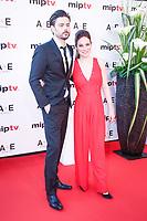 Caroline Dhavernas et Richard Short - RED CARPET POUR L'OUVERTURE DU MIPTV 2017 A L'HOTEL MARTINEZ - CANNES, FRANCE - LUNDI 3 AVRIL 2017.