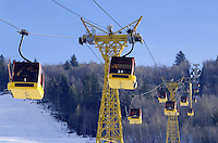 - Valtellina, cable car Bormio 2000....- Valtellina, cabinovia Bormio 2000..