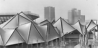 1967 FILE PHOTO - ARCHIVES -<br /> <br /> Ontario's $8;500;000 pavilion is bright; open and filled with noise and movement. Its angular structure of glass and steel holds Expo's smallest theatre - and its second biggest. Minirail trains run through the building with its 700 seat restaurant and bar; talking robots; art galleries and countless other attractions.<br /> <br /> <br /> 1967<br /> <br /> PHOTO : Boris Spremo - Toronto Star Archives - AQP
