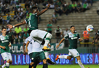 CALI - COLOMBIA - 15 - 10 - 2017: Danny Rosero, jugador de Deportivo Cali, durante partido de la fecha 15 entre Deportivo Cali y La Equidad, por la Liga Aguila II- 2017, jugado en el estadio Deportivo Cali (Palmaseca) de la ciudad de Cali. / Danny Rosero, player of Deportivo Cali, during a match of the date 15th between Deportivo Cali and La Equidad, for the Liga Aguila II- 2017 at the Deportivo Cali (Palmaseca) stadium in Cali city. Photo: VizzorImage  / Nelson Rios / Cont.