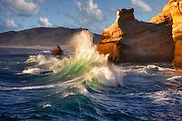 Waves at Cape Kiwanda. Oregon