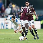 Ian Black fouled by Morgaro Gomis