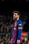 Lionel Andres Messi of FC Barcelona looks on during the La Liga 2018-19 match between FC Barcelona and RC Celta de Vigo at Camp Nou on 22 December 2018 in Barcelona, Spain. Photo by Vicens Gimenez / Power Sport Images