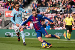 Jordi Alba of FC Barcelona (R) in action during the La Liga 2017-18 match between FC Barcelona and RC Celta de Vigo at Camp Nou Stadium on 02 December 2017 in Barcelona, Spain. Photo by Vicens Gimenez / Power Sport Images