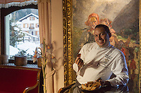 Italie, Val d'Aoste, Cogne, Hôtel Bellevue : Le chef   Fabio Iacovone//  Italy, Aosta Valley, Cogne, Bellevue hotel [Non destiné à un usage publicitaire - Not intended for an advertising use]