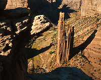 Afternoon light on Spider Rock; Canyon de Chelly National Monument, AZ
