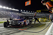 NASCAR Camping World Truck Series<br /> NextEra Energy Resources 250<br /> Daytona International Speedway, Daytona Beach, FL USA<br /> Friday 16 February 2018<br /> Spencer Davis, Kyle Busch Motorsports, JBL/SiriusXM Toyota Tundra, makes a pit stop<br /> World Copyright: John K Harrelson<br /> LAT Images