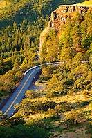 The Rowena Loops on the Historic Columbia River Highway,  Columbia River Gorge National Scenic Area, Oregon
