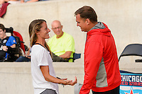 Chicago, IL - Sunday Sept. 04, 2016: Julianne Sitch, Rory Dames prior to a regular season National Women's Soccer League (NWSL) match between the Chicago Red Stars and Seattle Reign FC at Toyota Park.