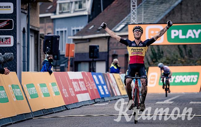 Belgian National Champion Laurens Sweeck (BEL/Pauwels Sauzen-Bingoal) wins the race<br /> <br /> Jaarmarktcross Niel (BEL) 2020<br /> Men's Race<br /> <br /> ©kramon