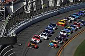 2017 NASCAR Cup - Daytona 500<br /> Daytona International Speedway, Daytona, FL USA<br /> Sunday 26 February 2017<br /> Martin Truex Jr, Bass Pro Shops/TRACKER BOATS Toyota Camry, Ryan Blaney, Kyle Busch, M&M's Toyota Camry<br /> World Copyright: Michael L. Levitt/LAT Images<br /> ref: Digital Image levitt-0217-D500_45633