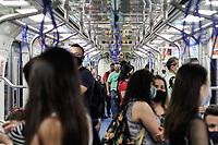 14.09.2020 - Movimentação no Metrô em São Paulo