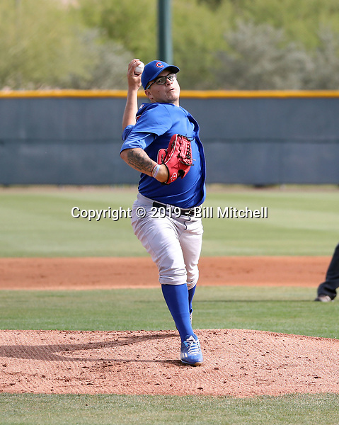 Faustino Carrera - Chicago Cubs 2019 spring training (Bill Mitchell)