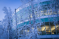UAA's Consortium Library on a frosty January morning.