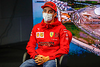 23rd September 2021; Sochi, Russia;   LECLERC Charles mco, Scuderia Ferrari SF21 during the Formula 1 VTB Russian Grand Prix 2021, 15th round of the 2021 FIA Formula One World Championship driver press conference