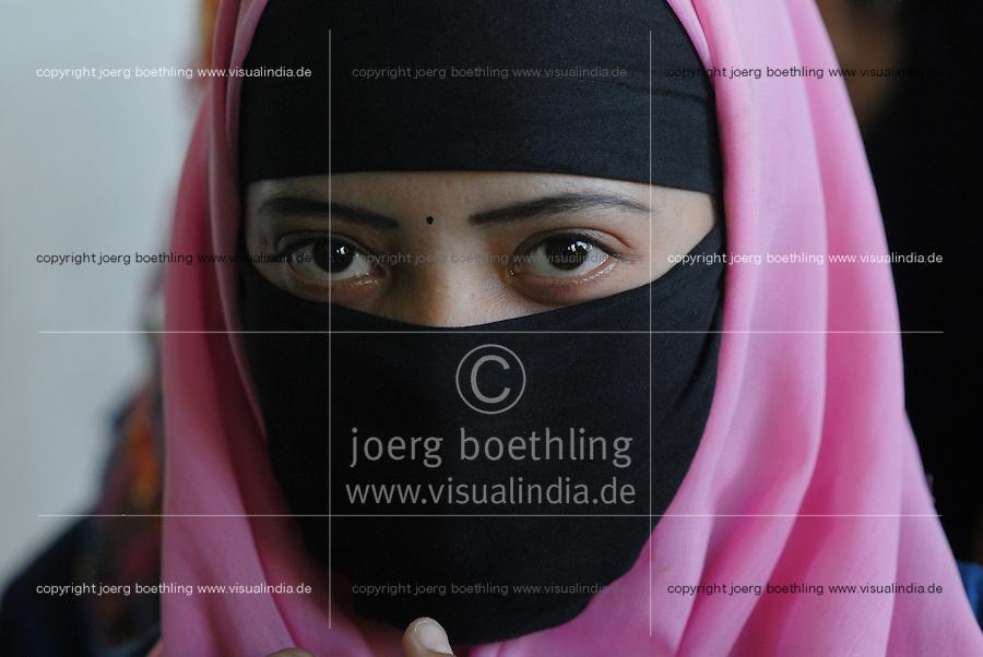 "Asien Suedasien Bangladesh , verschleierte Muslima -  Islam Frauen Frau xagndaz | .South asia Bangladesh Bogra , veiled muslim woman - religion Islam .| [ copyright (c) Joerg Boethling / agenda , Veroeffentlichung nur gegen Honorar und Belegexemplar an / publication only with royalties and copy to:  agenda PG   Rothestr. 66   Germany D-22765 Hamburg   ph. ++49 40 391 907 14   e-mail: boethling@agenda-fototext.de   www.agenda-fototext.de   Bank: Hamburger Sparkasse  BLZ 200 505 50  Kto. 1281 120 178   IBAN: DE96 2005 0550 1281 1201 78   BIC: ""HASPDEHH"" ,  WEITERE MOTIVE ZU DIESEM THEMA SIND VORHANDEN!! MORE PICTURES ON THIS SUBJECT AVAILABLE!!  ] [#0,26,121#]"