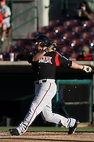 Tommy Medica #23 of the Lake Elsinore Storm bats against the Inland Empire 66'ers at San Manuel Stadium on July 15, 2012 in San Bernardino, California. Inland Empire defeated Lake Elsinore 4-3. (Larry Goren/Four Seam Images)