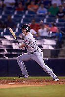 Lakeland Flying Tigers right fielder Mike Gerber (13) at bat during a game against the Tampa Yankees on April 8, 2016 at George M. Steinbrenner Field in Tampa, Florida.  Tampa defeated Lakeland 7-1.  (Mike Janes/Four Seam Images)
