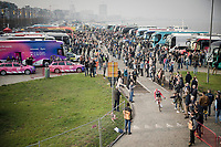 Tim Wellens (BEL/Lotto-Soudal) leaving the carpark<br /> <br /> 103rd Ronde van Vlaanderen 2019<br /> One day race from Antwerp to Oudenaarde (BEL/270km)<br /> <br /> ©kramon
