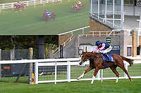 Winner of The Byerley Stud British EBF Novice Stakes (Plus 10) (Div 1) Autumn Twilight ridden by Kieran Shoemark and trained by David Menuisier  during Horse Racing at Salisbury Racecourse on 1st October 2020