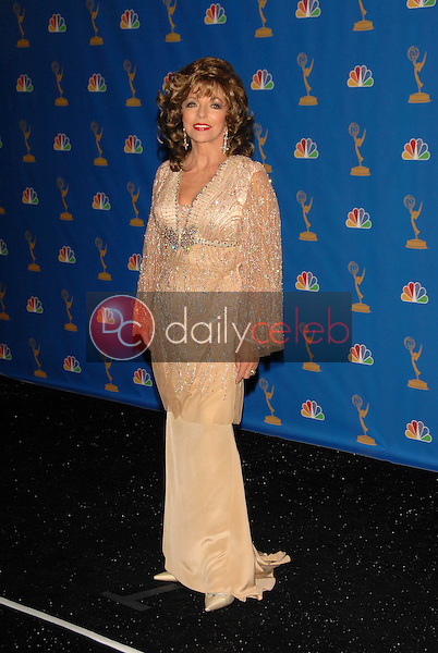 Joan Collins<br />in the Press Room at the 58th Annual Primetime Emmy Awards. The Shrine Auditorium, Los Angeles, CA. 08-27-06<br />Scott Kirkland/DailyCeleb.com 818-249-4998