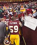London Fletcher Greets a Fan