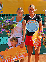 2013-08-17, Netherlands, Raalte,  TV Ramele, Tennis, NRTK 2013, National Ranking Tennis Champ,  Winners ladies doubles: Olga Kalyuzhnaya(L) end Danielle Harmsen<br /> <br /> Photo: Henk Koster