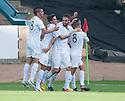 Morton's Tomas Peciar (4) celebrates after he scores their first goal.