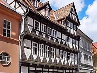 Schneemelcher-Haus von 1562, Marktstr. 5/6, Quedlinburg, Sachsen-Anhalt, Deutschland, Europa, UNESCO-Weltkulturerbe<br /> Schneemelcher house from 1562  in Quedlinburg, Saxony-Anhalt, Germany, Europe, UNESCO World Heritage