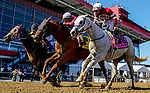 October 3, 2020: Laki #4, ridden by Horacio Karamanos, wins the Frank J. DeFrancis Memorial Dash during Preakness Stakes Day at Pimlico Race Course in Baltimore, Maryland. Scott Serio/Eclipse Sportswire/CSM