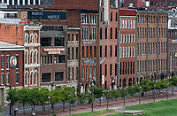 Historic buildings along First Avenue, Nashville, Tennassee, USA.