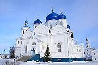 St. Bogolubsky monastery in Bogolubovo, Vladimir region in winter, Golden ring of Russia.