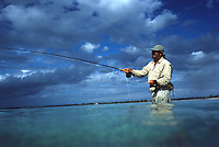 "Iles Bahamas /Ile de Long Island : initiation à la péche au bonefish à la mouche en mer au Lodge de péche ""Chez Pierre"" // Bahamas Islands / Long Island: introduction to sea-bonefish fishing at the ""Chez Pierre"" fishing lodge"