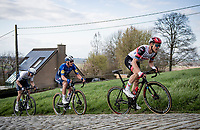 Matteo Trentin (ITA/UAE-Emirates) up the Paterberg<br /> <br /> 64th E3 Classic 2021 (1.UWT)<br /> 1 day race from Harelbeke to Harelbeke (BEL/204km)<br /> <br /> ©kramon