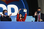 Candidate Isabel Diaz Ayuso celebrates her victory in the Madrid regional elections at the PP headquarters on May 04, 2021 in Madrid, Spain.(AlterPhotos/ItahisaHernandez)
