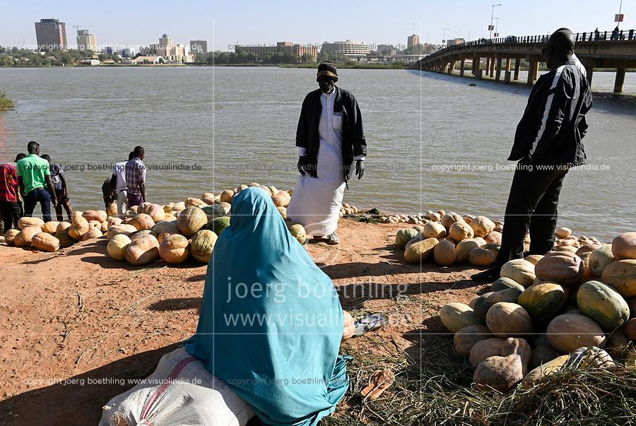 NIGER, Niamey, Niger river and bridge / Niger Fluß und Bruecke