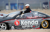 Apr. 3, 2009; Las Vegas, NV, USA: NHRA pro stock driver V. Gaines during qualifying for the Summitracing.com Nationals at The Strip in Las Vegas. Mandatory Credit: Mark J. Rebilas-