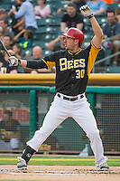 Matt Joyce (30) of the Salt Lake Bees at bat against the Iowa Cubs in Pacific Coast League action at Smith's Ballpark on August 21, 2015 in Salt Lake City, Utah. The Bees defeated the Cubs 12-8.  (Stephen Smith/Four Seam Images)