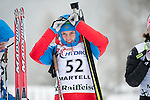 MARTELL-VAL MARTELLO, ITALY - FEBRUARY 02: SLEPTSOVA Svetlana (RUS) before the flower ceremony after the Women 7.5 km Sprint at the IBU Cup Biathlon 6 on February 02, 2013 in Martell-Val Martello, Italy. (Photo by Dirk Markgraf)
